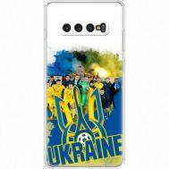 Силиконовый чехол Remax Samsung G975 Galaxy S10 Plus Ukraine national team