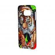 Чехол для Samsung Galaxy S7 (G930) Luxo Face neon тигр