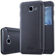 Чехол книжка для Samsung Galaxy A8 2016 (A810) Nillkin Spakle кожаный черный
