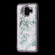 """Чехол для Samsung Galaxy A6 2018 (A600) Блестки вода светло-розовый """"геометрия"""""""