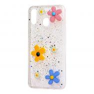 """Чехол для Samsung Galaxy M20 (M205) 3D confetti """"ромашка"""""""