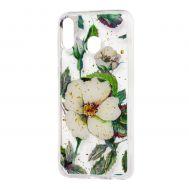 "Чехол для Samsung Galaxy M20 (M205) Flowers Confetti ""шиповник"""