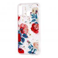 "Чехол для Samsung Galaxy M20 (M205) Flowers Confetti ""роза"""