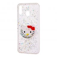 "Чехол для Samsung Galaxy M20 (M205) жидкие блестки игрушка ""Kitty"""