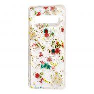 "Чехол для Samsung Galaxy S10+ (G975) Flowers Confetti ""полевые цветы"""