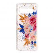 "Чехол для Samsung Galaxy S10+ (G975) Flowers Confetti ""кустовая роза"""