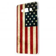 Чехол для Samsung Galaxy A7 (A700) американский флаг