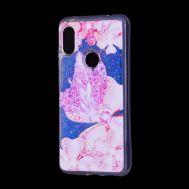 "Чехол для Xiaomi Redmi Note 6 Pro Блестки вода Fashion ""Ажур"""