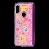 "Чехол для Xiaomi Redmi Note 6 Pro Блестки вода Fashion ""Happy Day"""