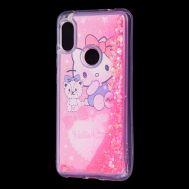 "Чехол для Xiaomi Redmi Note 6 Pro Блестки вода Fashion ""Kitty"""