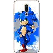 Силиконовый чехол Remax Meizu 16X Sonic Blue