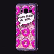 "Чехол для Samsung Galaxy J3 2016 (J320) Блестки вода Fashion ""Donut"""