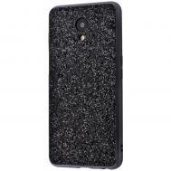 Чехол для Meizu M6s Shining sparkles с блестками черный