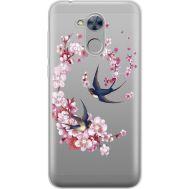 Силиконовый чехол BoxFace Huawei Honor 6A Swallows and Bloom (934983-rs4)