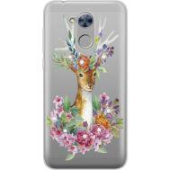 Силиконовый чехол BoxFace Huawei Honor 6A Deer with flowers (934983-rs5)