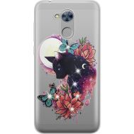 Силиконовый чехол BoxFace Huawei Honor 6A Cat in Flowers (934983-rs10)