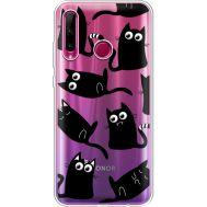 Силиконовый чехол BoxFace Huawei Honor 10i с 3D-глазками Black Kitty (37080-cc73)