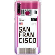 Силиконовый чехол BoxFace Huawei Honor 10i Ticket San Francisco (37080-cc79)