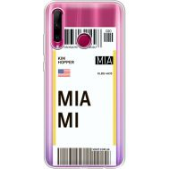 Силиконовый чехол BoxFace Huawei Honor 10i Ticket Miami (37080-cc81)