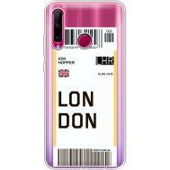 Силиконовый чехол BoxFace Huawei Honor 10i Ticket London (37080-cc83)