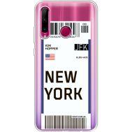 Силиконовый чехол BoxFace Huawei Honor 10i Ticket New York (37080-cc84)