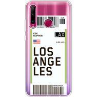 Силиконовый чехол BoxFace Huawei Honor 10i Ticket Los Angeles (37080-cc85)