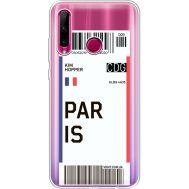 Силиконовый чехол BoxFace Huawei Honor 10i Ticket Paris (37080-cc86)