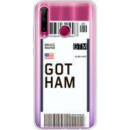 Силиконовый чехол BoxFace Huawei Honor 10i Ticket Gotham (37080-cc92)