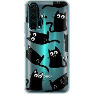 Силиконовый чехол BoxFace Huawei Honor 20 Pro с 3D-глазками Black Kitty (38273-cc73)