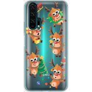 Силиконовый чехол BoxFace Huawei Honor 20 Pro с 3D-глазками Reindeer (38273-cc74)