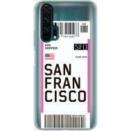 Силиконовый чехол BoxFace Huawei Honor 20 Pro Ticket San Francisco (38273-cc79)