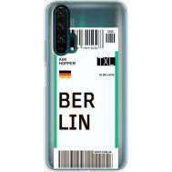 Силиконовый чехол BoxFace Huawei Honor 20 Pro Ticket Berrlin (38273-cc80)