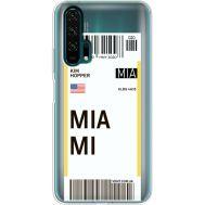 Силиконовый чехол BoxFace Huawei Honor 20 Pro Ticket Miami (38273-cc81)