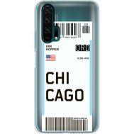 Силиконовый чехол BoxFace Huawei Honor 20 Pro Ticket Chicago (38273-cc82)