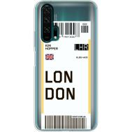 Силиконовый чехол BoxFace Huawei Honor 20 Pro Ticket London (38273-cc83)