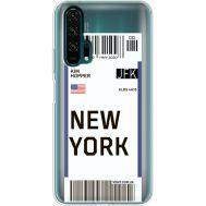 Силиконовый чехол BoxFace Huawei Honor 20 Pro Ticket New York (38273-cc84)