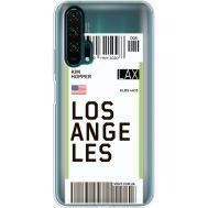 Силиконовый чехол BoxFace Huawei Honor 20 Pro Ticket Los Angeles (38273-cc85)