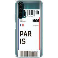 Силиконовый чехол BoxFace Huawei Honor 20 Pro Ticket Paris (38273-cc86)