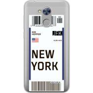 Силиконовый чехол BoxFace Huawei Honor 6A Ticket New York (34983-cc84)