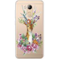 Силиконовый чехол BoxFace Huawei Honor 6C Pro Deer with flowers (934984-rs5)