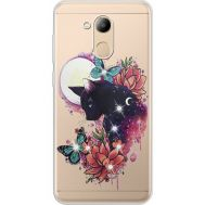 Силиконовый чехол BoxFace Huawei Honor 6C Pro Cat in Flowers (934984-rs10)