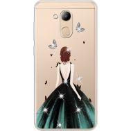 Силиконовый чехол BoxFace Huawei Honor 6C Pro Girl in the green dress (934984-rs13)