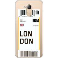Силиконовый чехол BoxFace Huawei Honor 6C Pro Ticket London (34984-cc83)