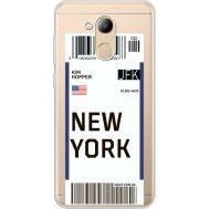 Силиконовый чехол BoxFace Huawei Honor 6C Pro Ticket New York (34984-cc84)