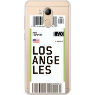Силиконовый чехол BoxFace Huawei Honor 6C Pro Ticket Los Angeles (34984-cc85)
