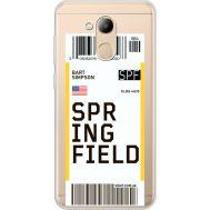 Силиконовый чехол BoxFace Huawei Honor 6C Pro Ticket Springfield (34984-cc93)