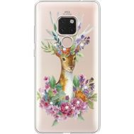 Силиконовый чехол BoxFace Huawei Mate 20 Deer with flowers (935636-rs5)