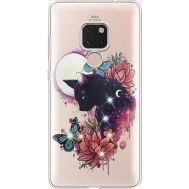 Силиконовый чехол BoxFace Huawei Mate 20 Cat in Flowers (935636-rs10)