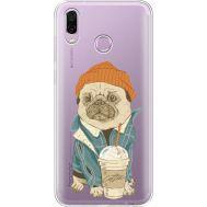 Силиконовый чехол BoxFace Huawei Honor Play Dog Coffeeman (35427-cc70)