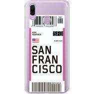 Силиконовый чехол BoxFace Huawei Honor Play Ticket San Francisco (35427-cc79)